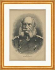Unser Kaiser. Wilhelm I. Deutsches Reich Kartätschenprinz Holzstich E 24571
