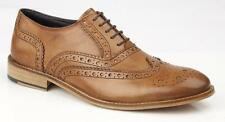 Roamers Tan Leather Brogue Shoe
