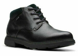 SALE! RRP £125! CLARKS UN TREAD UP GTX BLACK LEATHER GORE-TEX ANKLE BOOTS