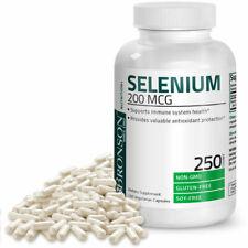 Selenium 200mcg Amino Acid Immune Support Trace Mineral Non-GMO, 250 Capsules