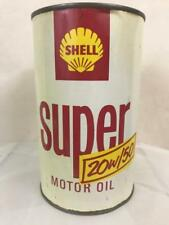 Shell Super Motor Oil Can Pourer Advertising Quart Measure 1960s Garage Petrol