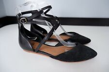 Ugg Black Suede Shoes Flats Size 37 Uk 4.5 Immaculate