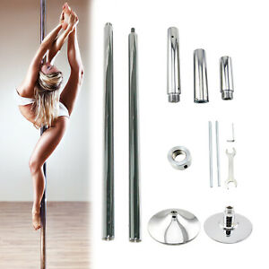 Portable Stripper Dance Pole Dancing Spinning Static Dancer Powertrain Fitness