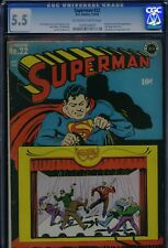 SUPERMAN #22 - CGC-5.5, OW-W