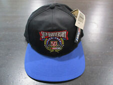 NEW VINTAGE Nascar Snap Back Hat Cap Black Blue 50th Anniversary Racing Racer