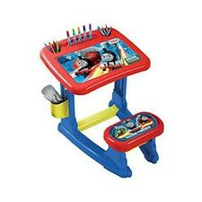 Thomas & Friends THC001 Activity Desk With Seat 12 Crayons Childrens Art Toy New