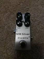 Micro MM Silver Overdrive Mosky Guitar Effects Pedal Upgraded Timmy Clone Tested