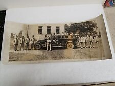 1920'S? PATTERSON HEIGHTS PA FIRE DEPARTMENT PANORAMIC PHOTO MEN & TRUCK-23.5X10