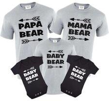 Papa Bear,Mama Bear,Baby Bear T-Shirt Set Gift Birthday Tops Bear & Arrow Family