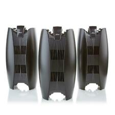 Hunter Hepa Air Purifier Tower 3-pack with Long-Life Filter - Black