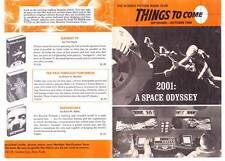 2001 A SPACE ODYSSEY in THINGS TO COME October 1968 SCIENCE FICTION BOOK CLUB