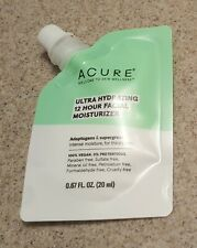 Acure Ultra Hydrating 12 Hour Facial Moisturizer 1oz New