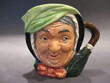Antique Royal Doulton English Porcelain Sairey Gamp Lg. Toby Character Jug