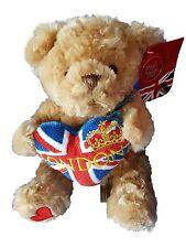 20cm London Bear With Heart Soft Plush By Keel Toys Souvenir