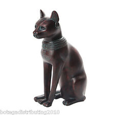 ANTIQUE COPPER RESIN BASTET SMALL CAT DEITY EGYPTIAN STATUE FIGURINE GATO