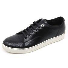 C2842 sneaker uomo LANVIN CRAC scarpa nero low top shoe man