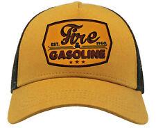 Fire & Gasoline Trucker Cap Rockabilly Hotrod Biker Oldschool V8 Baseball Kappe