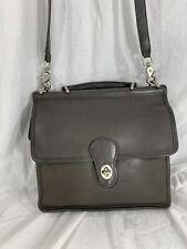 Vintage COACH Willis grey leather shoulder bag purse crossbody