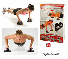 ROTATING PUSH UP GRIPS Gym Workout Press Up Chest Arms Perfect Upper Body Bars