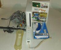 Nintendo Wii RVL-001 White Console  - Bundle  - Tested