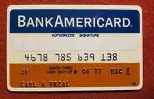 BankAmericard First National Bank Chicago Credit Card exp 77♡Free Shipping♡cc118