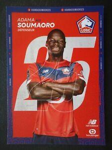 96 Autogrammkarte Adama Soumaoro LOSC Lille Fussball 2021/22