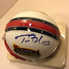 Tom Brady Signed Super Bowl 38 Riddell Mini Helmet cb2a333be