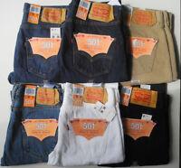 Levis 501 Jeans Many Colors NWT White , Indigo Blue , Black, Stonewashed