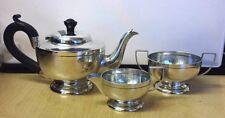 Vintage 1923 Lovely Hallmarked Solid Silver 3 Piece Tea Service