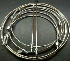 ROVER P6 2000SC, CHASSIS SUFFIX A to D, POLISHED CUPRO - NICKEL BRAKE PIPE SET