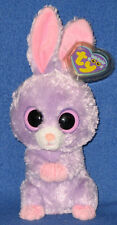 """Ty Beanie Boos - Petunia the 6"""" Purple Bunny - Mint with Mint Tags"""