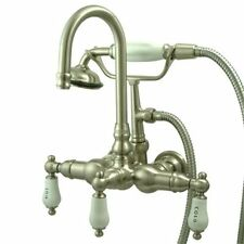 brushed nickel 3 handle shower faucet. Brushed Nickel Tub  Shower Wall Mount Home Faucets with 3 Handles eBay