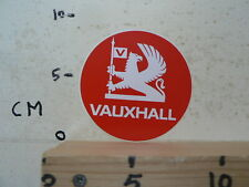STICKER,DECAL VAUXHALL RED CAR AUTO ROUND A