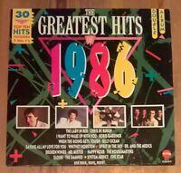 Various – The Greatest Hits Of 1986 2× Vinyl  LP Comp 1986 Telstar – STAR 2286