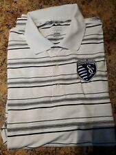 Sporting Kansas City Adidas Puremotion Golf Polo - MLS Large L EUC