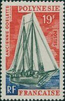 French Polynesia 1966 Sc#221,SG60 19f Early Schooner MNH