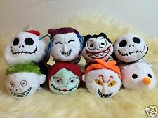 "Disney Store Nightmare Before Christmas Tsum Tsum 3.5"" Complete Set of 8 NWT"