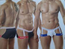 PPU underwear Boxer Jock Strap White / Blue (Small)