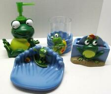 Kids Novelty Bath 2 piece Accessory Set FROG MANIA  Frogs Lotion & Soap Dish