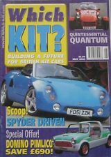 Which Kit? magazine 05/2002 featuring Midas Excelsior, GTM Spyder