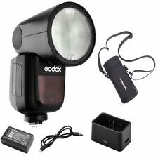 Godox V1-P Flash for Pentax 76Ws 2.4G TTL Round Head Flash Speedlight+ Case Bag