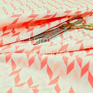 Lightweight Chenille Geometric Pattern Fuchsia Pink Upholstery Curtain Fabric