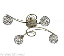 DarLighting Circa 4 Light Semi-Flush Ceiling Light 40W G9 Polished Chrome Finish