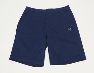 Puma Golf DryCell Navy Blue Performance Flat Golf Shorts Mens 36