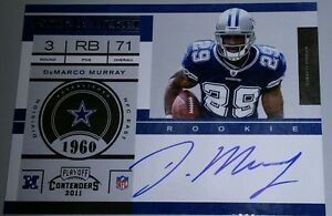 2011 **11 DEMARCO MURRAY PANINI PLAYOFF CONTENDERS ROOKIE TICKET RC AUTO