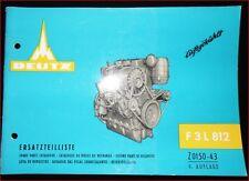 Deutz Schlepper F 3 L 812 Motor Ersatzteilliste