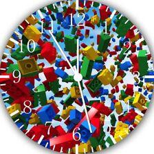 Lego Bricks Frameless Borderless Wall Clock For Gifts or Kids Decor E29