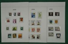 LATVIA  STAMPS SELECTION ON 9 ALBUM PAGES  (J146)