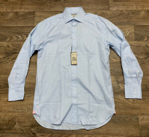 NWT Thomas Pink Men's 15 33.5 Blue Arthur Twill Sterling Classic Fit Dress Shirt