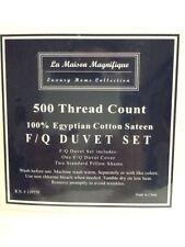 LA MAISON MAGNIFIQUE 500TC COTTON FULL/QUEEN  DUVET WHITE  SET NIP